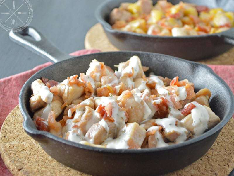 Chicken Bacon Ranch Skillet {Whole30}