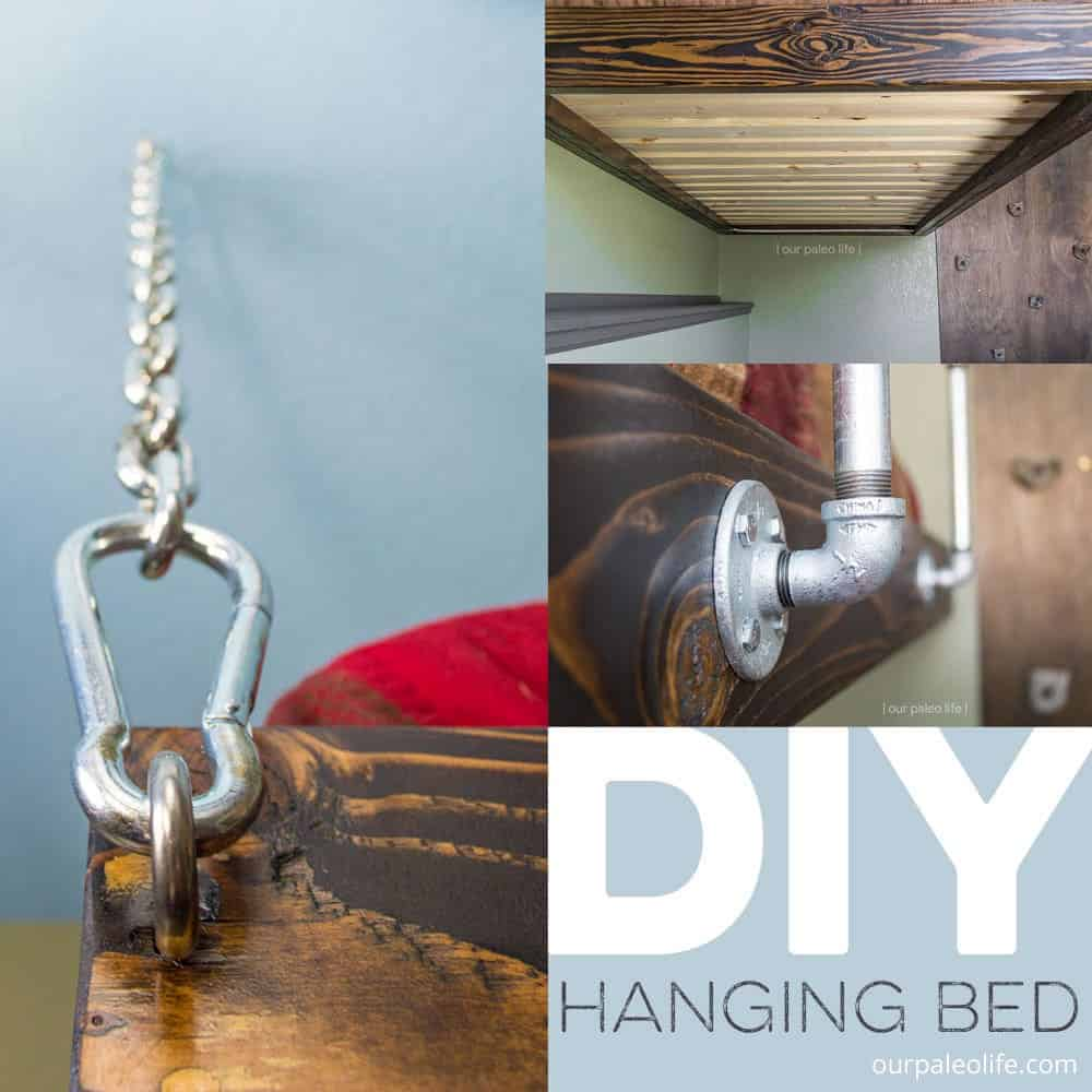 How to build a hanging bed for under 0 suspended bed plans - How to build a hanging bed ...