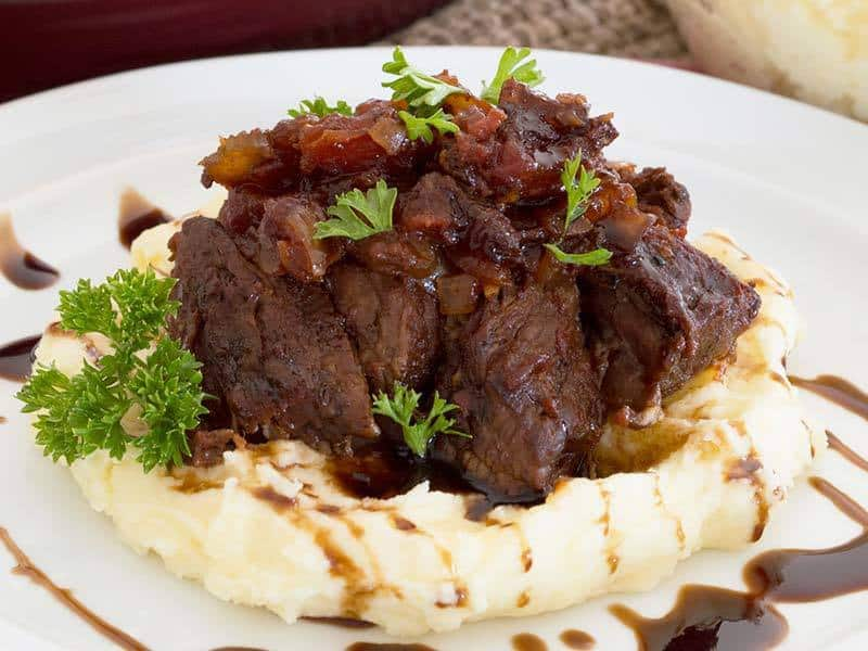 Braised Short Ribs Over Mashed Potatoes | Our Paleo Life