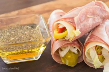 Italian Sub Roll-Ups {low-carb; keto; grain-free} by Our Paleo Life