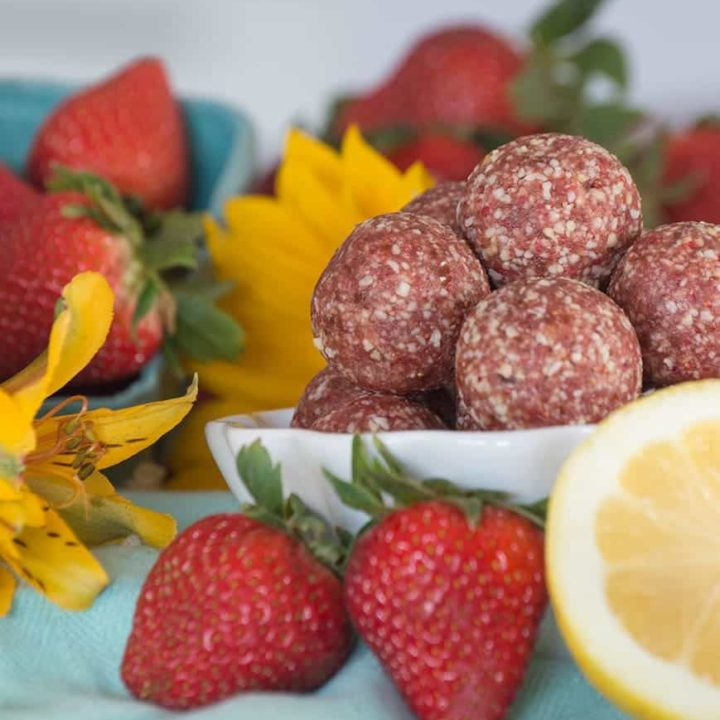 Strawberry Lemonade Bites {grain-free; dairy-free} by Our Paleo Life