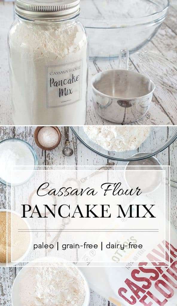 Make a large batch of this grain-free pancake mix to keep on hand for the perfect Saturday morning breakfast.