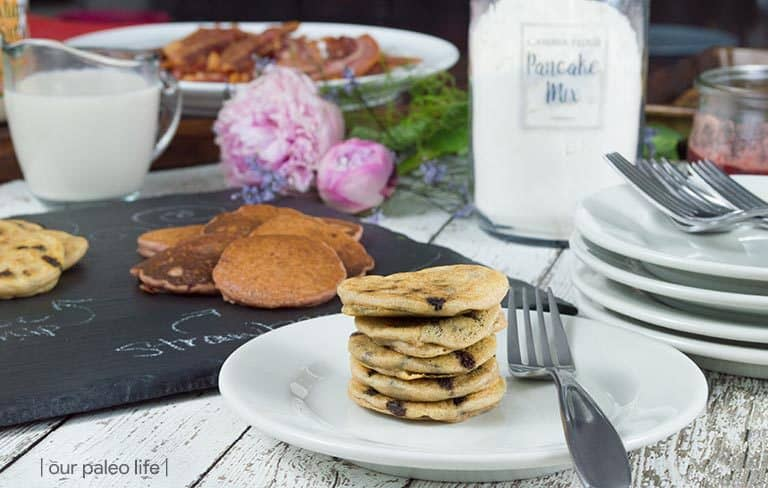 Chocolate Chip Pancakes {grain-free; dairy-free}