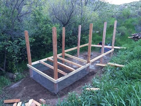 Chicken Coop Column and Floor Prep