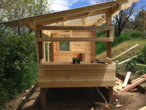 Chicken Coop Siding and Frame and New Box