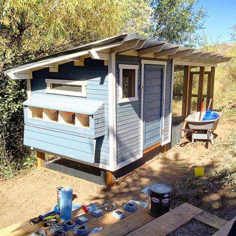 Finalizing a chicken coop build