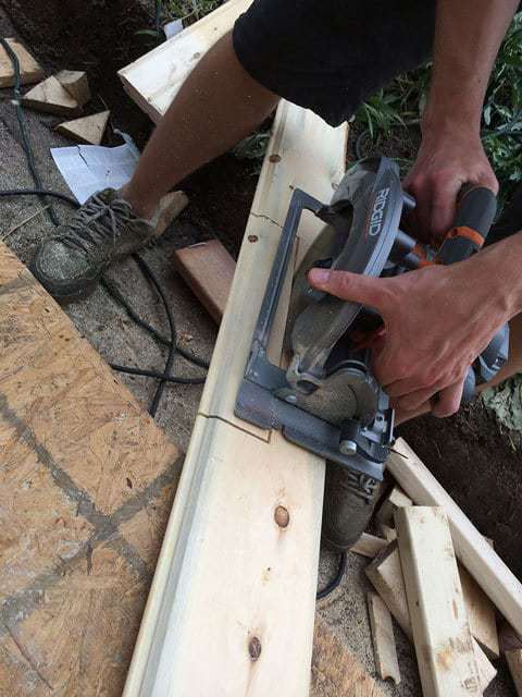Tongue and groove cutouts with a circular saw