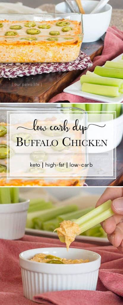 Low-Carb Buffalo Chicken Dip {keto}