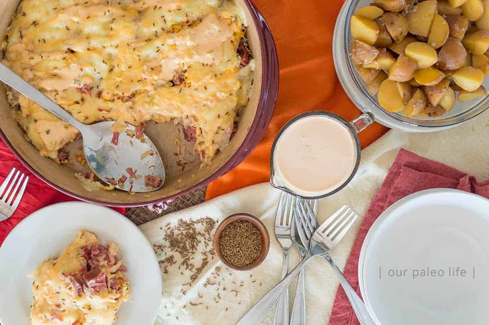 Low-carb Reuben Casserole {keto} by Our Paleo Life