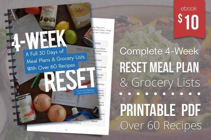 4-Week Reset Meal Plan eBook