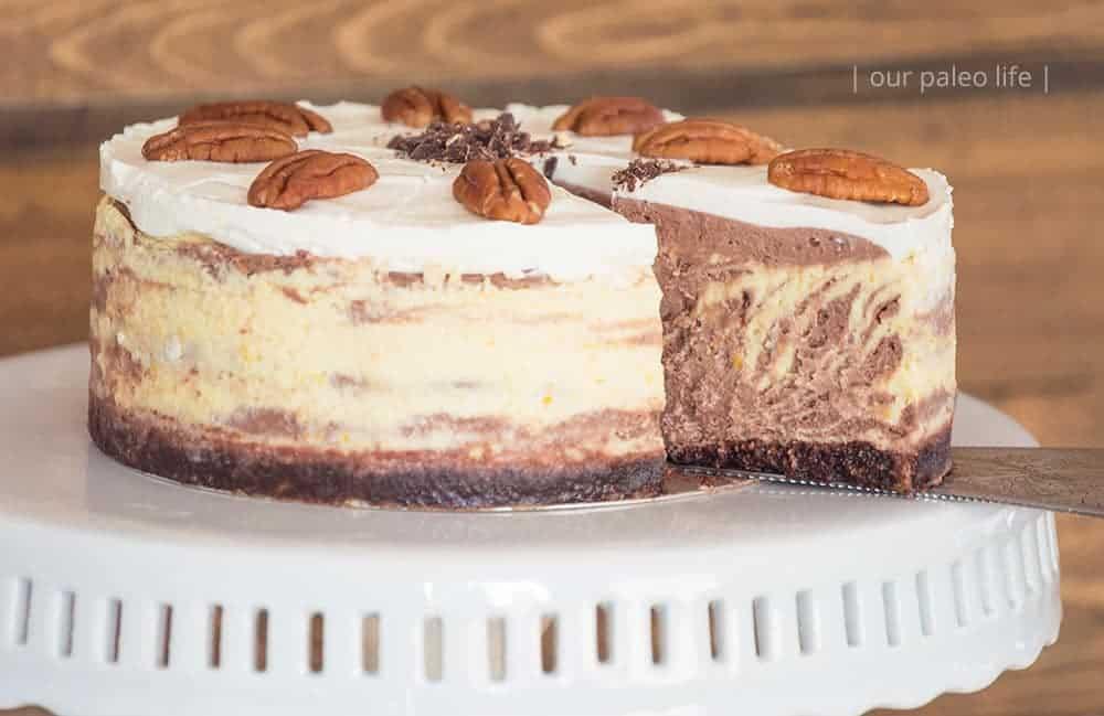 Zebra Keto Cheesecake {primal; low-carb}