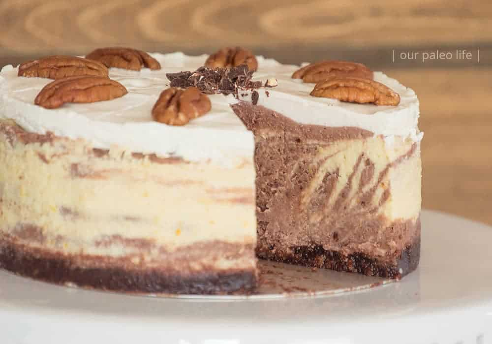 Zebra Keto Cheesecake {primal; low-carb}