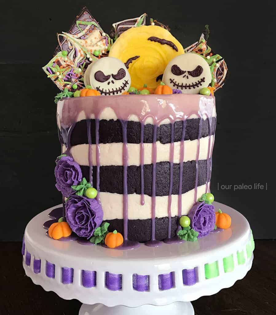 Grain-Free Halloween Cake {Tim Burton Inspired; grain-free; dairy-free option}