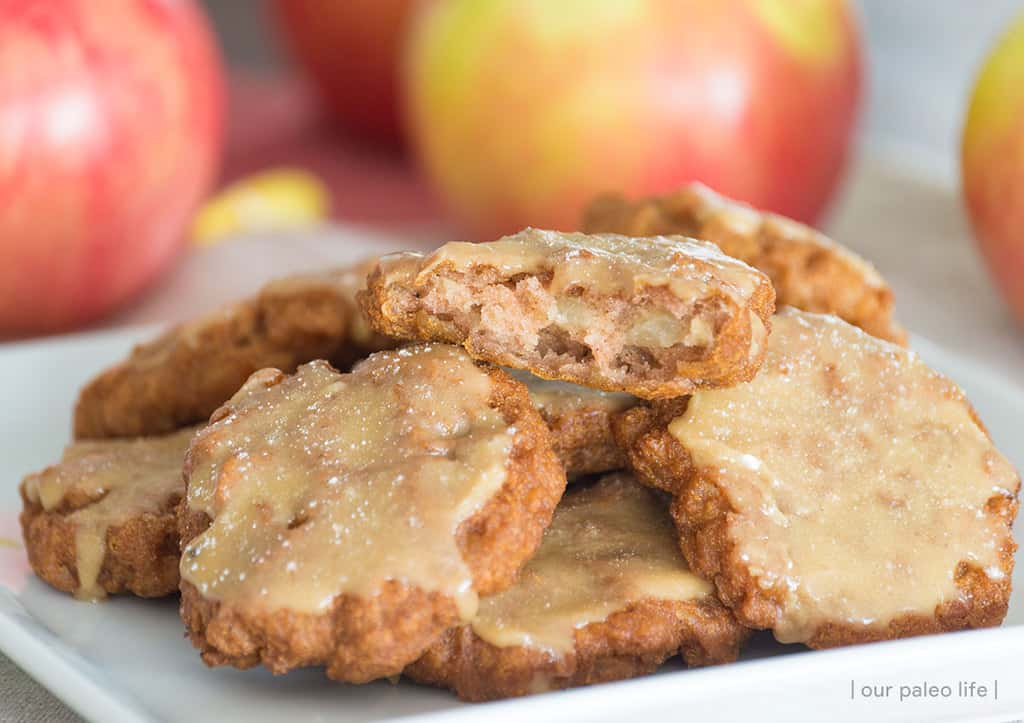 Maple Frosted Apple Fritters {grain and dairy free}