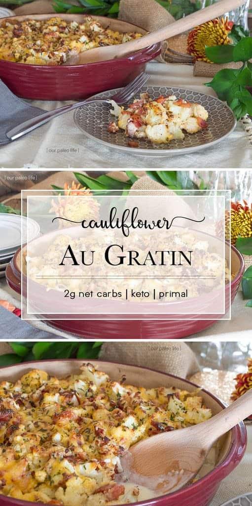 Low Carb Cauliflower Au Gratin
