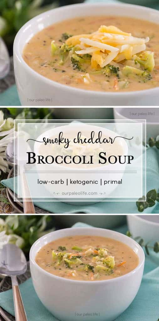Smoky Cheddar and smoked paprika give this creamy, low-carb soup a flavor that is superior to any restaurant variety. Stay within your macros with this soup the entire family will love.
