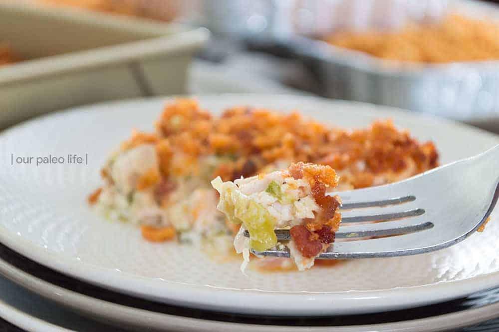 Cheesy Chicken Broccoli Casserole {keto}
