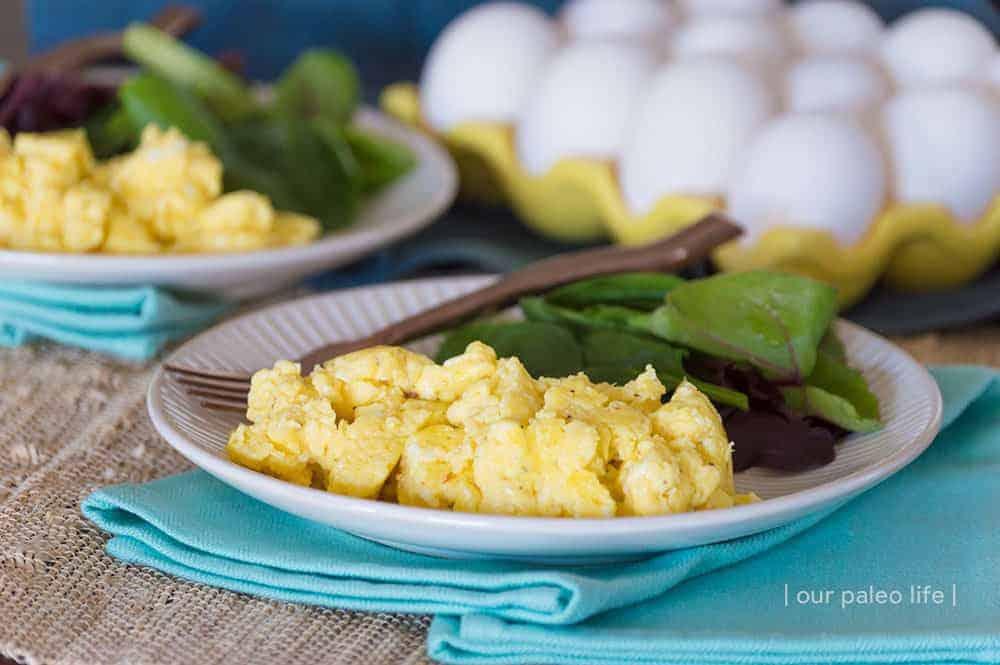 Creamy Scrambled Eggs {low-carb; primal}