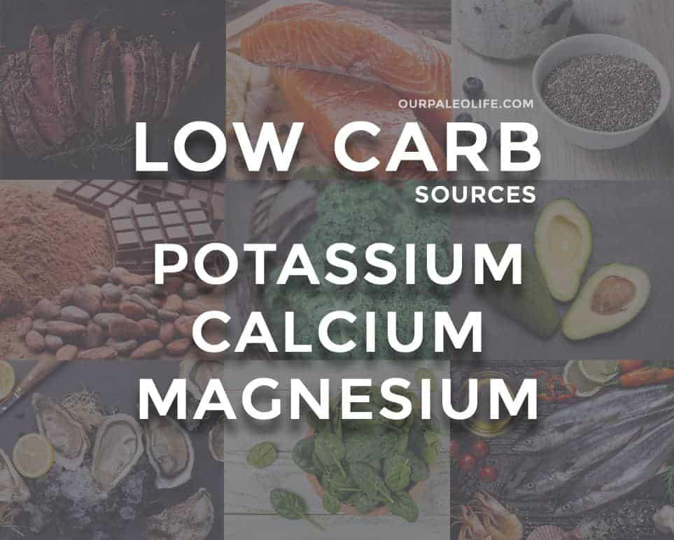 Natural Keto Sources of Potassium, Calcium and Magnesium