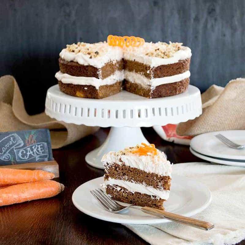 Carrot Cake w/ Maple Meringue Frosting