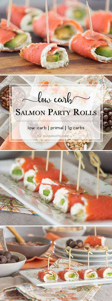 Salmon Party Rolls {low-carb; primal}