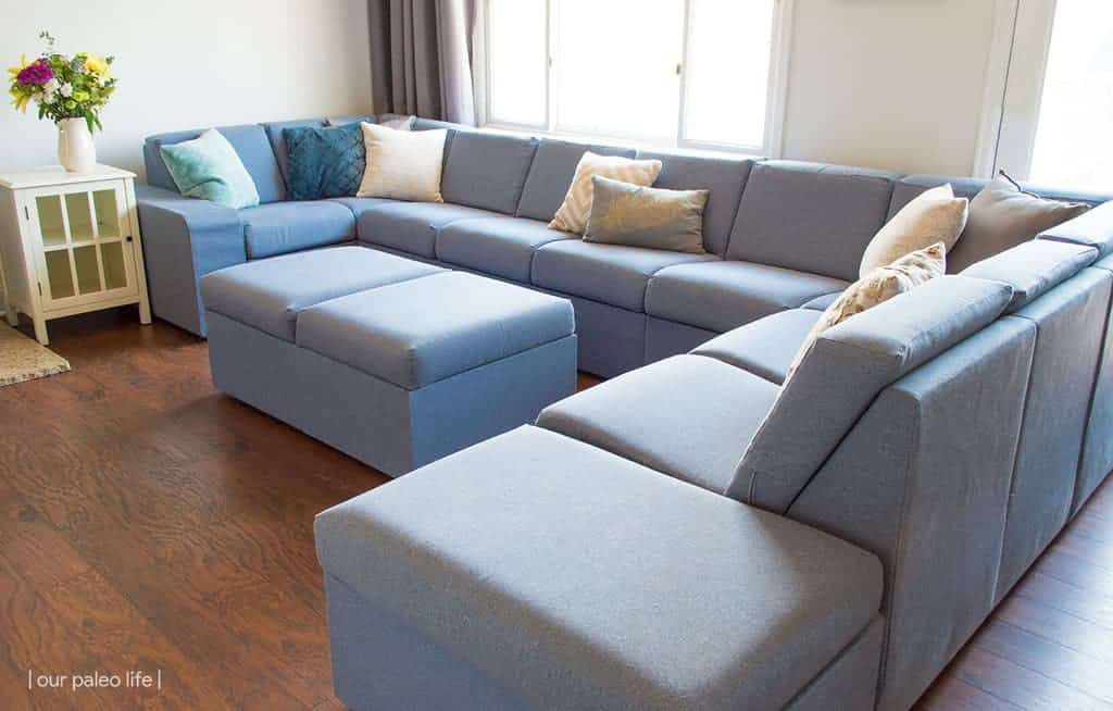 Home Reserve Sectional Review {kid & pet friendly; easy-to-wash; customizable}