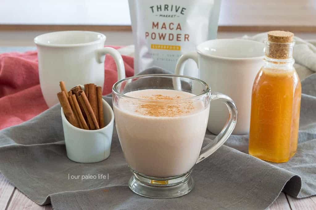 Maca Cocoa Latte {low-carb; dairy-free option; coffee alternative}