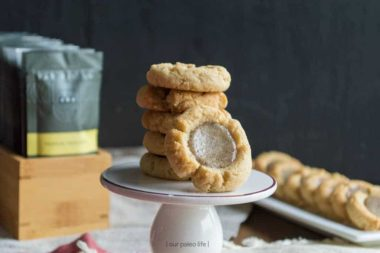 Low-Carb Thumbprint Cookie with Fat Fit Go {grain-free, dairy-free}