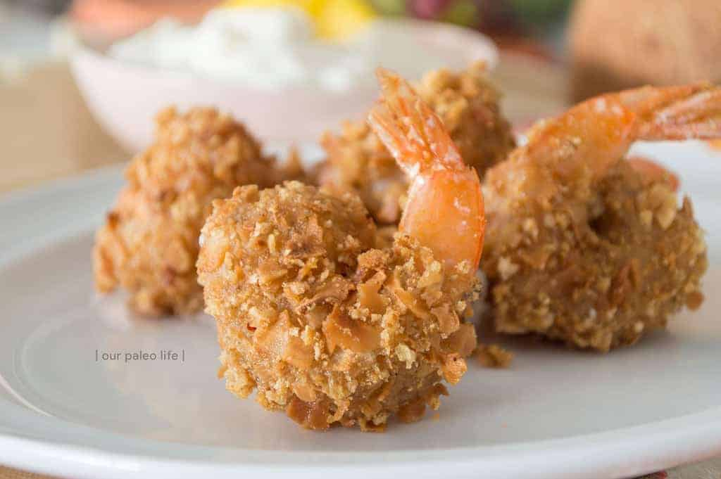 Low Carb Coconut Shrimp with Sweet Pineapple Sauce {keto; primal}