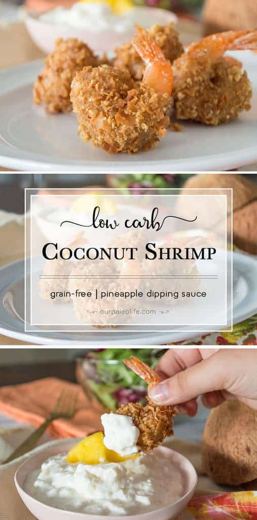 You'll want to skip the restaurant and stay home with this low-carb coconut shrimp. The golden, crispy shrimp is perfectly complimented with a sweet sugar-free pineapple dipping sauce.