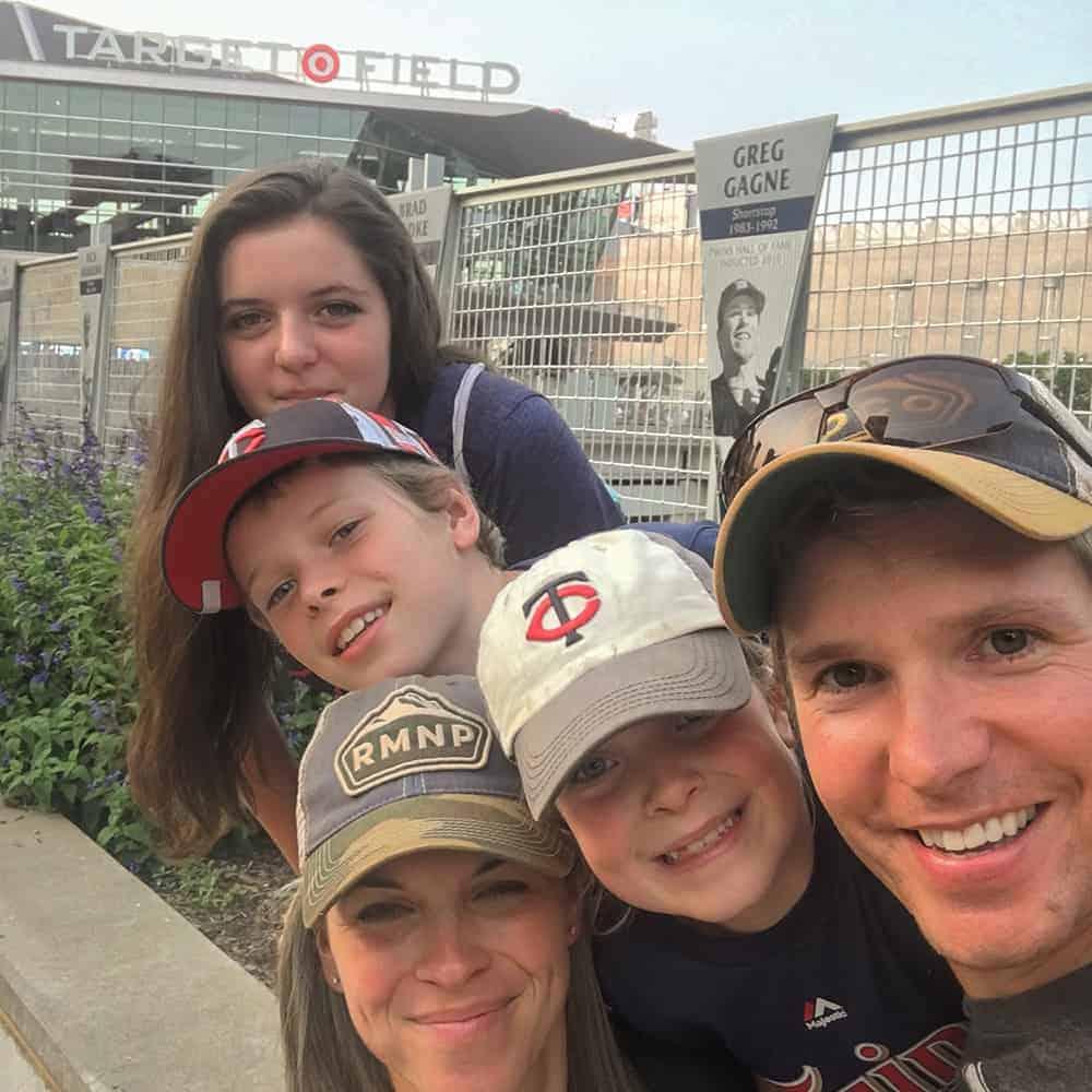 Benson Family at Target Field MN