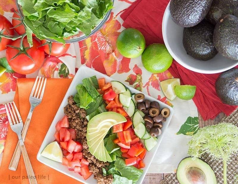 Whole30 Taco Salad food to eat