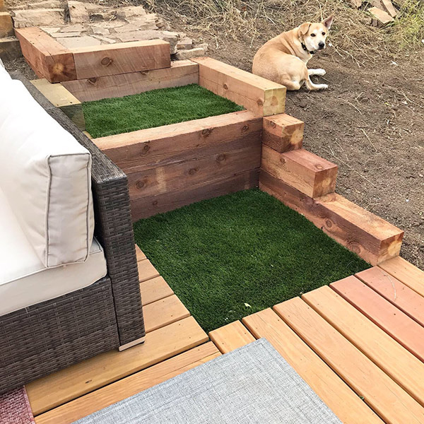 Artificial Grass and Retaining Walls