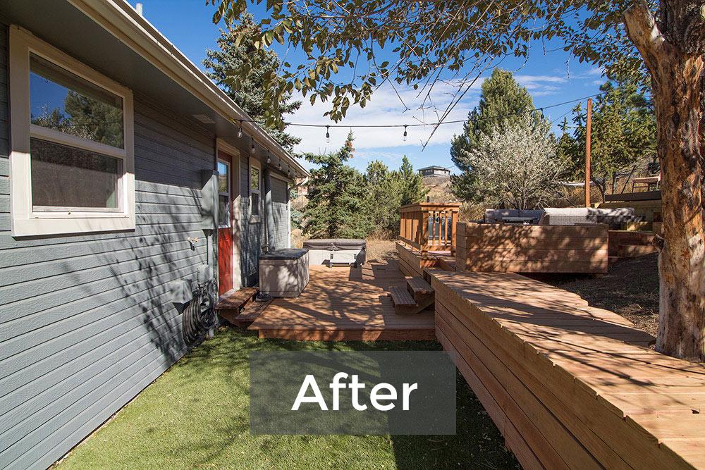 Backyard Deck Complex After
