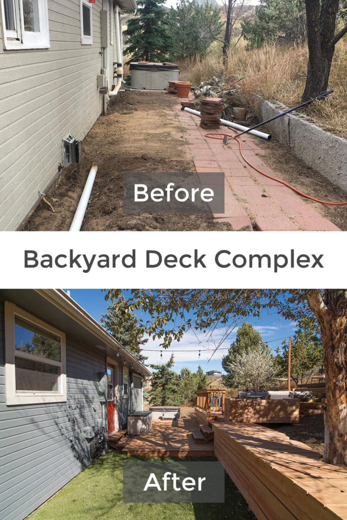 Backyard Deck Complex (Before and After)