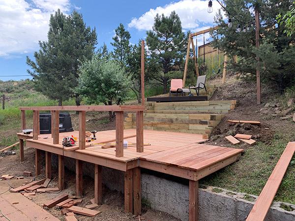 DIY Backyard Deck Project