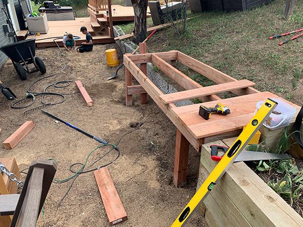 Create the plank for a diy deck build