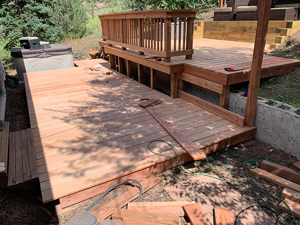 Deck boards complete