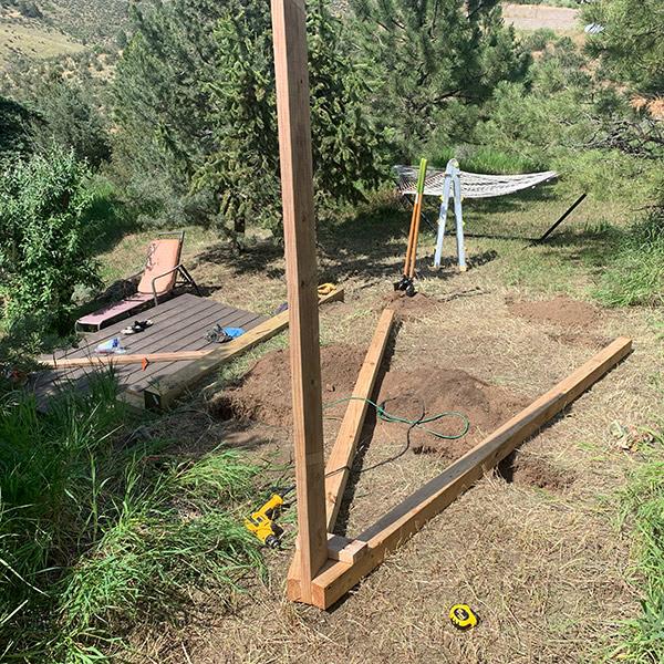 Post Beam Construction for Swing Set