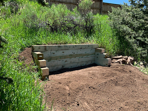 Complete Landscape Timber Retaining Wall
