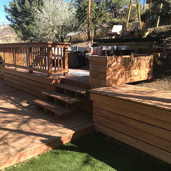 Backyard DIY Deck Build