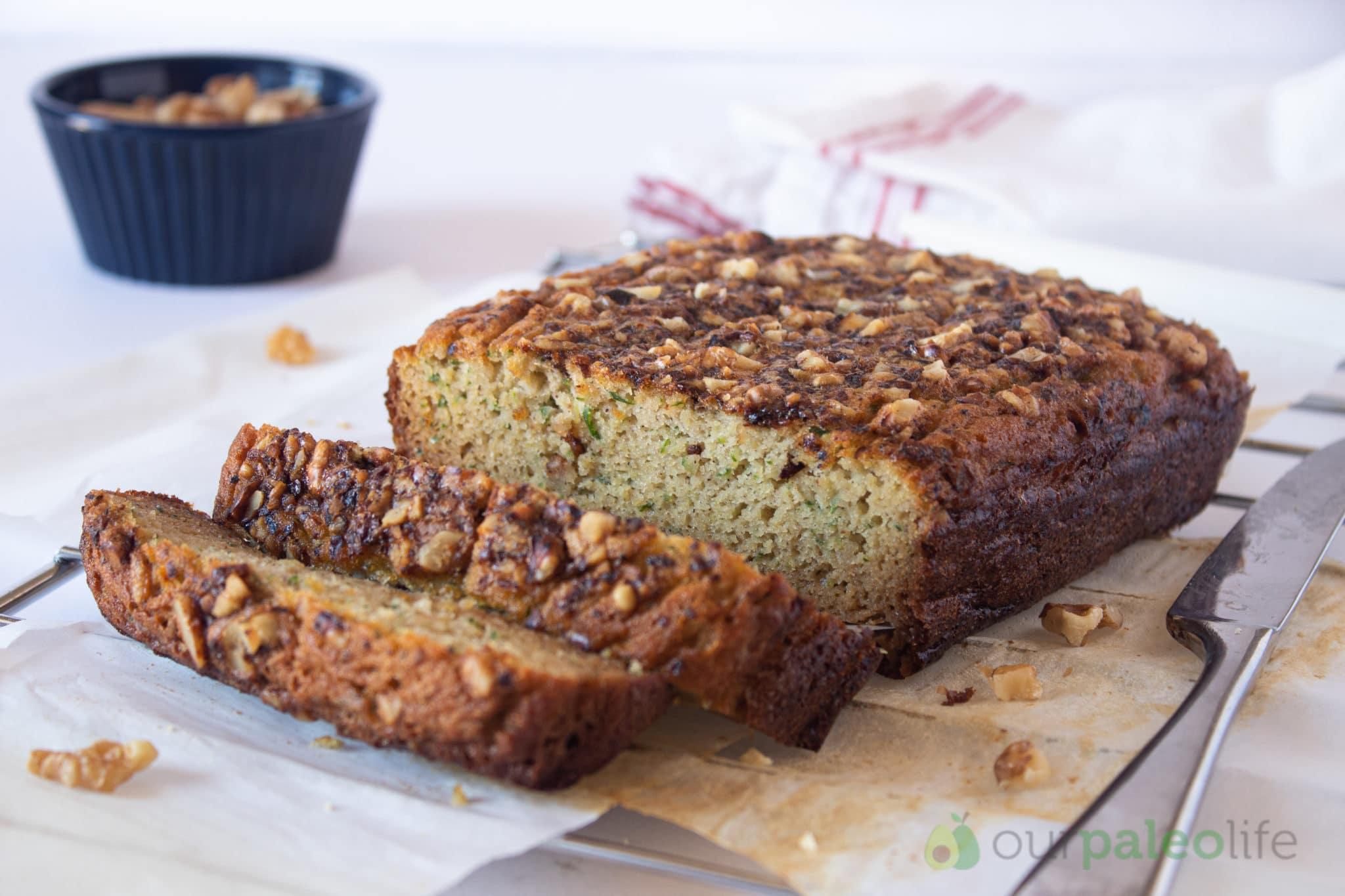 Paleo Zucchini Bread With Roast Walnuts
