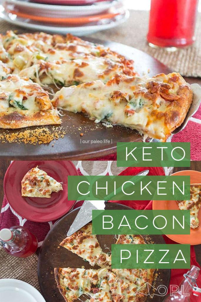 Keto Pizza – Chicken Bacon Artichoke w/ Low Carb Crust