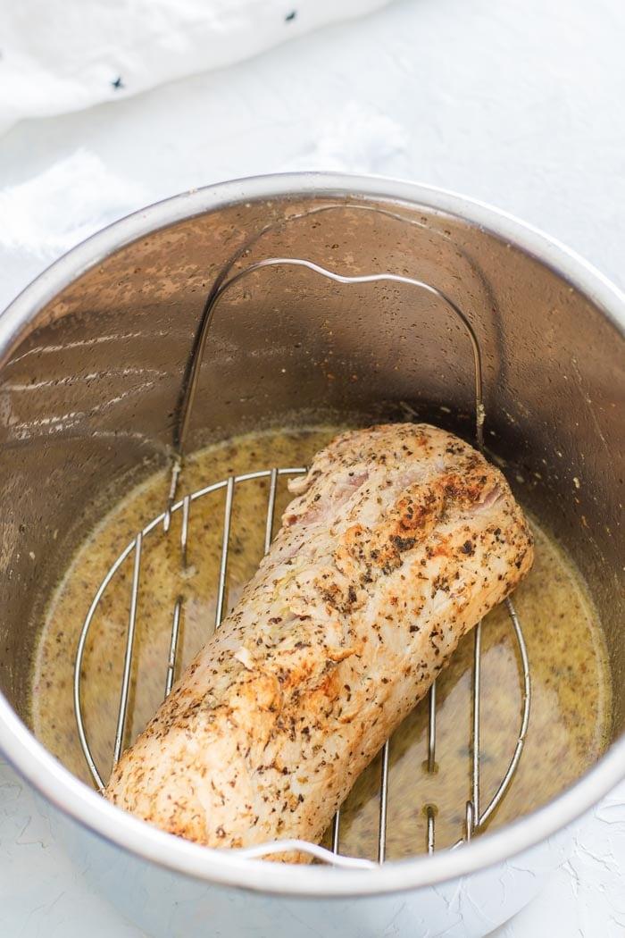Placing inside instant pot