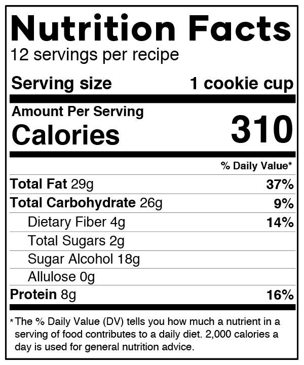 Funfetti Cookie Cups Nutrition