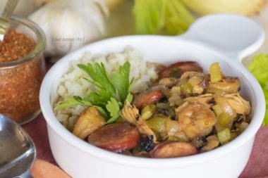 Keto Gumbo with Cauliflower Rice