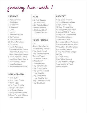 Keto Meal Plan PDF