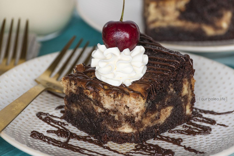 Mile High Brownie Swirl Cake