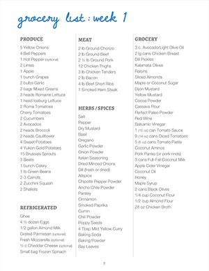 Paleo PDF Meal Plan