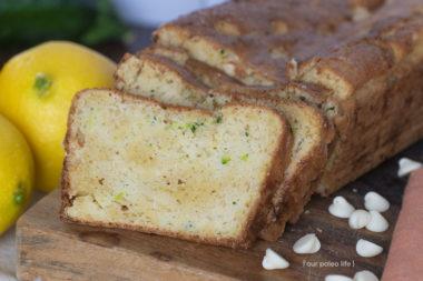 White Chocolate Lemon Zucchini Bread {keto}